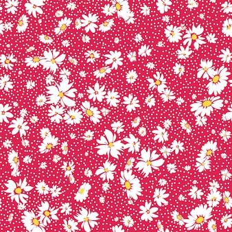 デイジーとシームレスな春の花柄