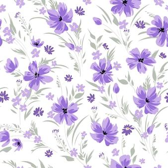 데이지와 원활한 봄 꽃 패턴