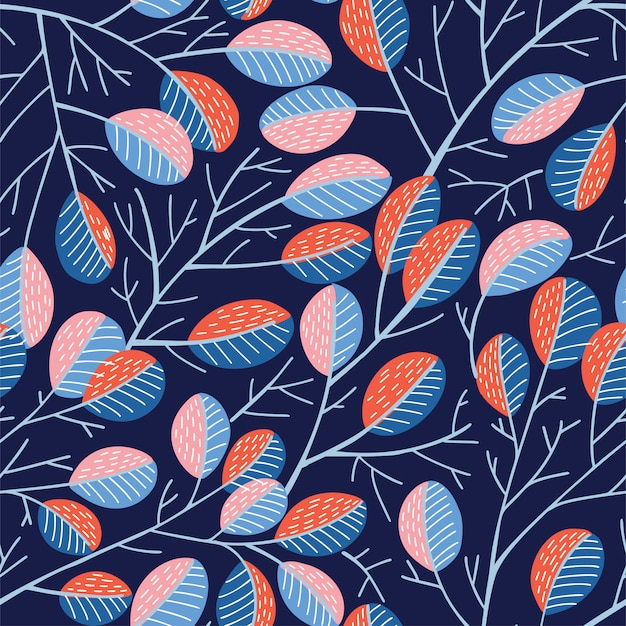 Seamless spring tree pattern