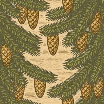 Seamless spruce pattern
