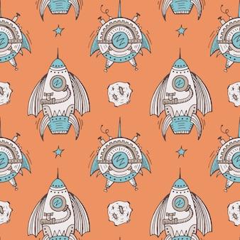 Seamless steampunk pattern