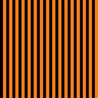 オレンジと黒のシームレスな縞模様のハロウィーンの背景。ベクター