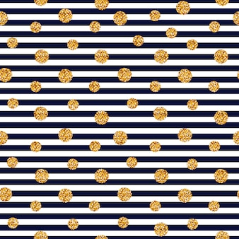 Seamless striped pattern with glitter dots.