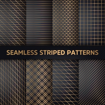 Seamless striped patterns, white and grey texture