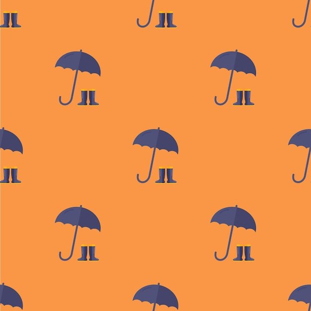 フラットスタイルのシームレスでスタイリッシュな傘のパターンファブリックテキスタイルラップなどに