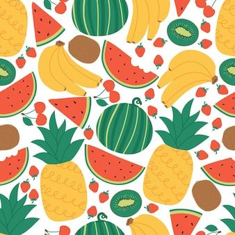 Концепция бесшовные летние фрукты