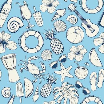 Seamless summer pattern design