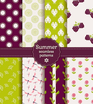 Seamless summer patterns.