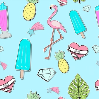 Seamless summer time pattern