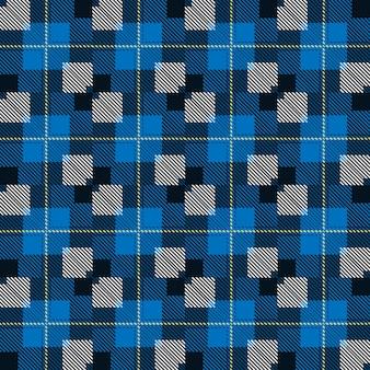 원활한 타탄 패턴. 패션 기하학적 디자인. 스코틀랜드 짠 텍스처.