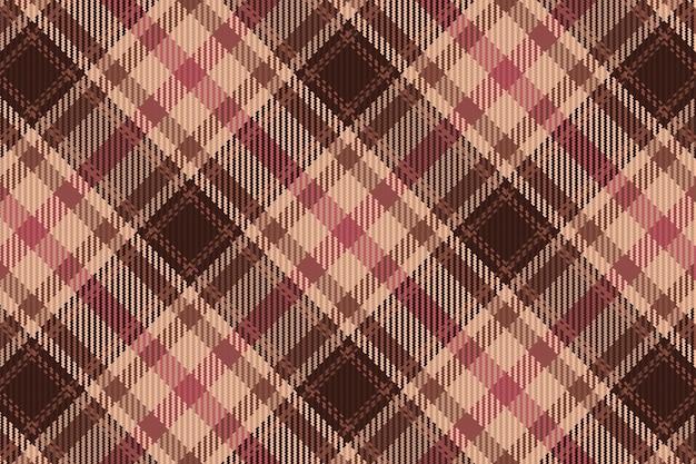 원활한 타탄 체크 무늬 패턴 배경입니다. 섬유 질감입니다. 벡터 일러스트 레이 션.