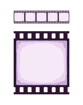 Seamless template of cinema or photo strip realistic colored retro pattern of filmstrip for brush