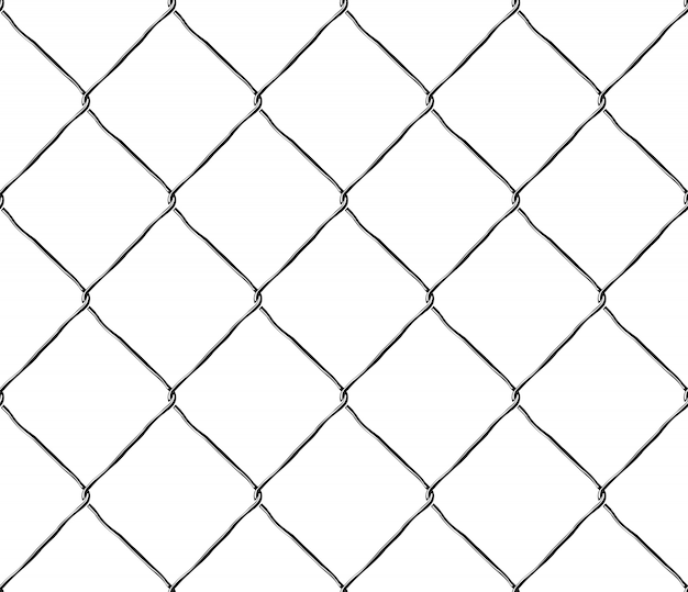 Seamless texture metal mesh steel fence