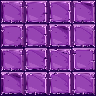 Seamless texture of purple square stone, background stone wall tiles.