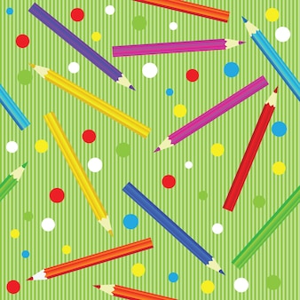 Seamless texture with pencils. colorful endless pattern. template for design backgrounds, textile, wrapping paper, package