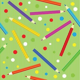 鉛筆とのシームレスな質感。カラフルな無限のパターン。デザインの背景、テキスタイル、包装紙、パッケージのテンプレート