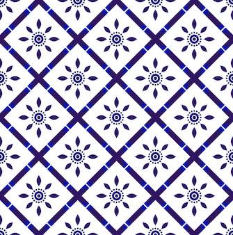 Seamless tile pattern decor