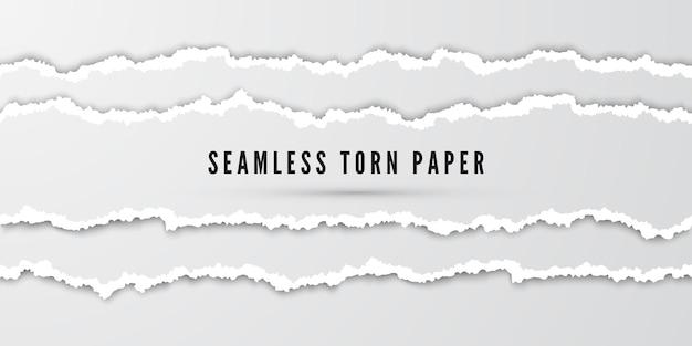Бесшовные полосы рваной бумаги
