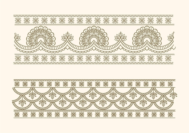 Seamless traditional border design