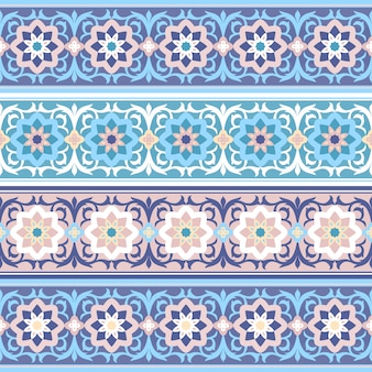 Seamless traditional muslim floral ornament