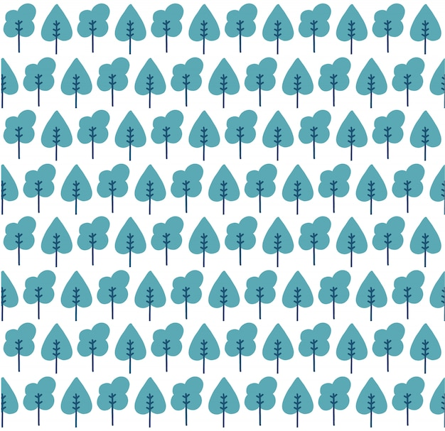 Seamless trees pattern