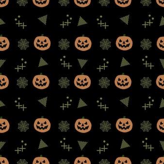 Seamless trendy halloween pattern