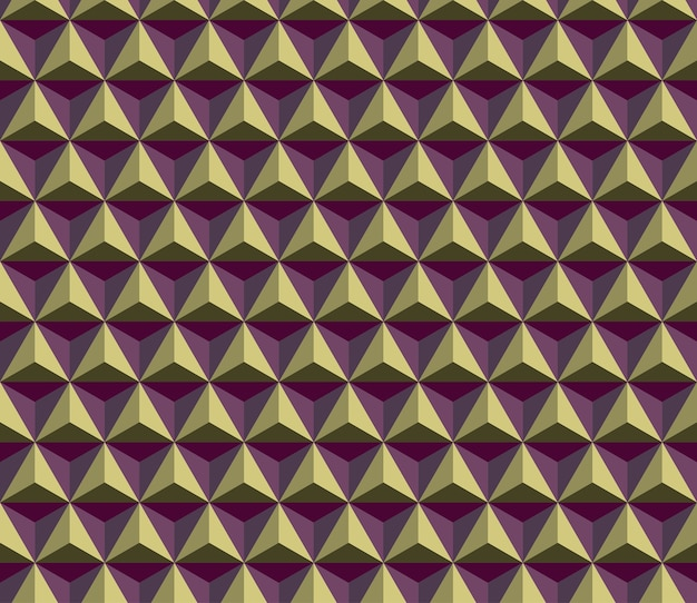 Seamless triangle cube pattern.