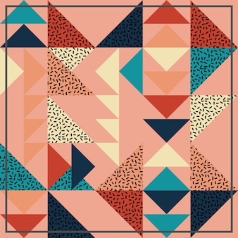 Бесшовный абстрактный узор с треугольником