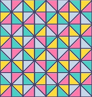 Бесшовный узор треугольника. векторные абстрактные текстуры