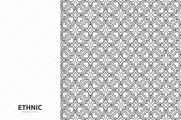 シームレスな部族のテクスチャの幾何学的なデザインの手描き