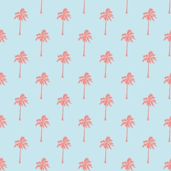 Seamless tropical pattern with palm trees. vintage background. forest, jungle. abstract nature hand drawn background texture. flat style, illustration.