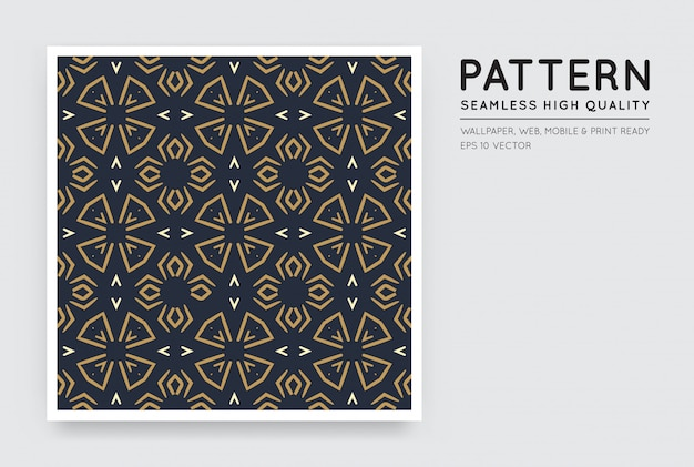 Seamless vector arabian style abstract pattern