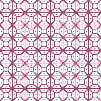 Seamless vector background, floral line pattern.