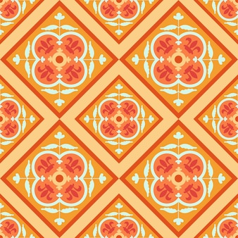 Seamless vector colorful arabic geometric traditional pattern.