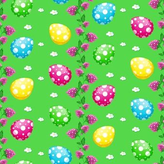 Seamless vector easter pattern