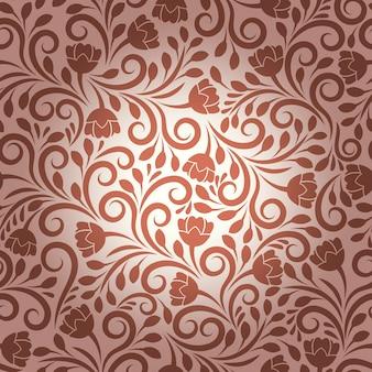 Бесшовные векторные цветочный узор. цветочный дизайн, декоративный орнамент, текстура растений и декоративная иллюстрация природы