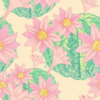 シームレスなベクターの花柄のパターン。