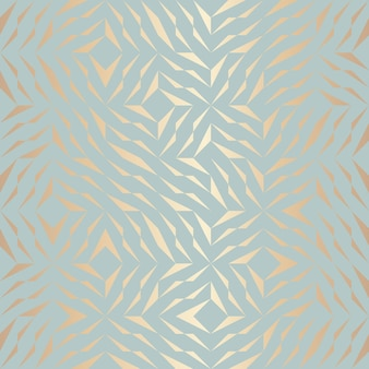 Seamless vector geometric golden element pattern. abstract background copper texture on blue green. simple minimalistic graphic print. modern turquoise trellis grid. trendy hipster sacred geometry.