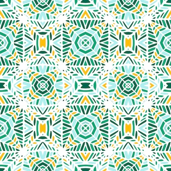 Seamless vector geometric mosaic made by hand