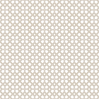 Seamless vector.geometric ornament in brown color lines.