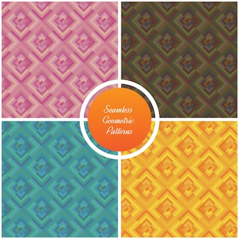 Seamless vector geometric patterns set