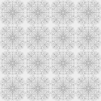 Seamless vector pattern of abstract simple shapes and lines