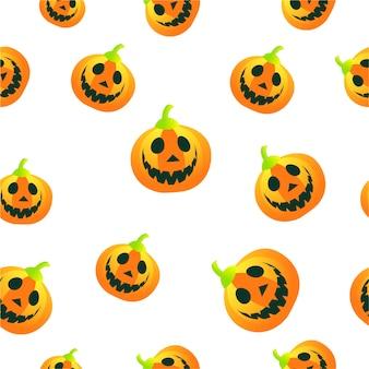 Seamless vector pattern of autumn pumpkins