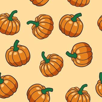 Seamless vector pattern of pumpkin
