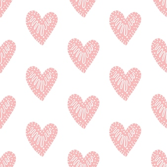 Seamless vector pattern with hearts.