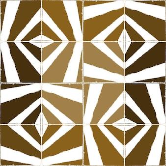 正方形のタイルの鉛筆スタイルのシームレスなベクトルパターン。
