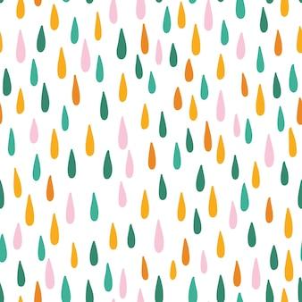 雨滴とのシームレスなベクトルパターン