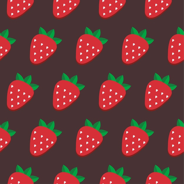 Seamless vector strawberry pattern. design for wallpaper, textile,wrapping paper, package.