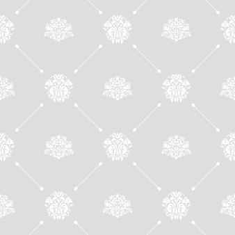 Seamless vector wedding background white on gray or silver pattern