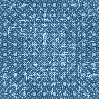 Seamless vintage blue japanese style fish scale pattern